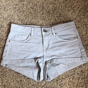 Light gray jean shorts